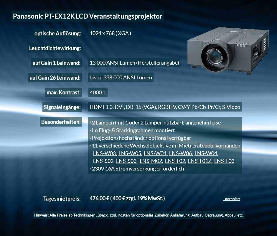 Anzeige für Projektorvermietung XGA Veranstaltungsprojektor mit 13.000 ANSI Lumen für 400 € zzgl. MwSt. inkl. Wechselobjektiv zur Auswahl LNS-W03, LNS-W05, LNS-W01, LNS-W06, LNS-W04, LNS-S02, LNS-S03, LNS-M01, LNS-M02, LNS-T02, LNS-T01