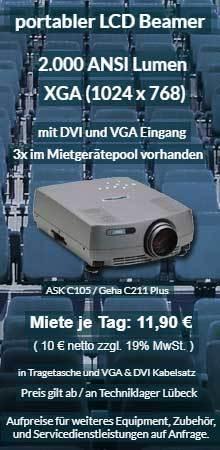 Mietangebot XGA Projektor ab 10 €