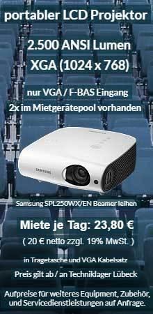 Angebot für Beamer Ausleih: Samsung XGA LCD Projektor SP L250W